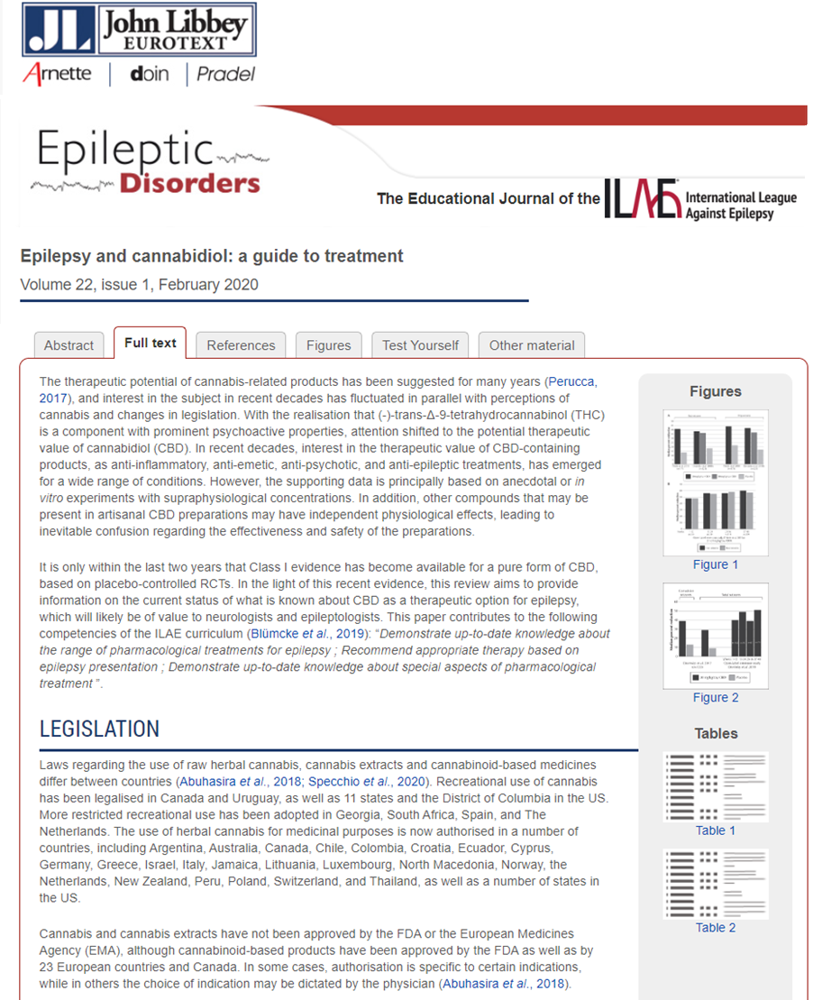 Epilepsy and Cannabidiol: a Guide to Treatment
